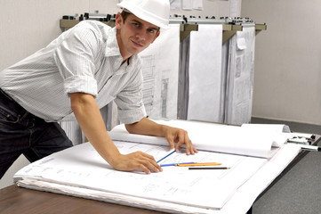 Architect Going Over Plans