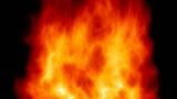 fiery background, imitation of powerful fire like wood burn poster