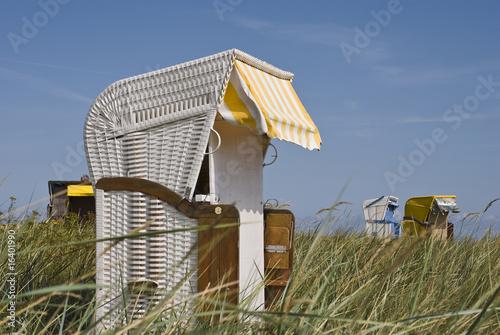 Foto op Canvas Noordzee Strandkorb