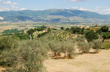 Umbria.Panorama sulla Valle del Velino