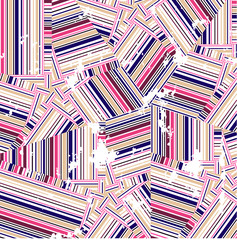 chaotic grungy seamless background of colorful lines