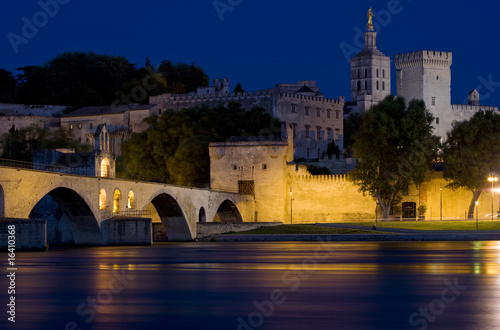Avignon at night, Provence, France