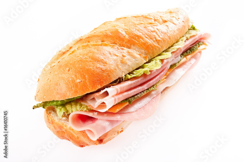 Fresh and healthy ham sandwich