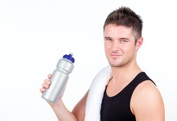 Man with a sports bottle