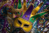 Fototapety Mardi Gras Mask and Beads