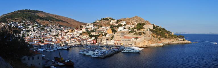 panoramic view of Hydra island, Greece
