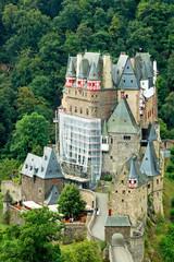 Burg Eltz in der Eifel, Symbol auf altem 500 Mark Schein
