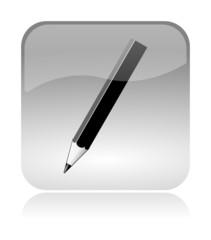 Pencil Pen glossy icon
