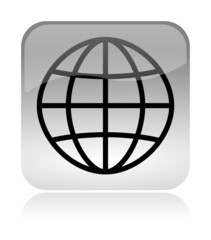 World Meridians Parallels glossy icon