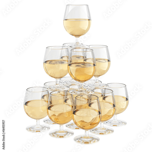 champagne glass pyramid
