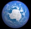Leinwandbild Motiv Antarktis aus dem All