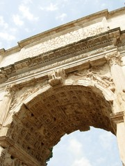 Ancient Roman Arch Covering the Entrance to the Forum Romanum
