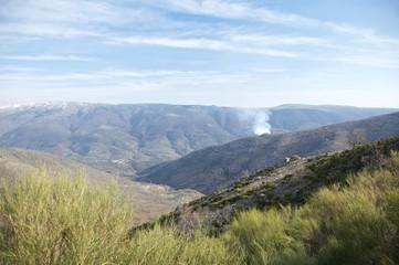 smoke at the valley