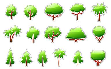 Trees Symbols Icon Set