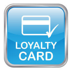 "Square vector ""LOYALTY CARD"" button (blue)"