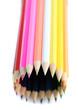 rond de crayons de couleurs