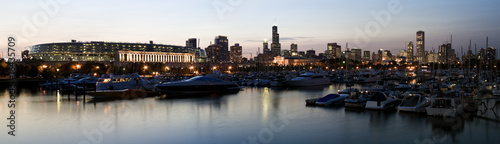 Plexiglas Stadion Panoramic View of Chicago