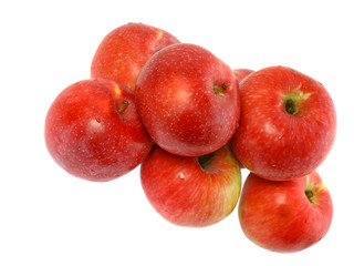 Heap of ripe, red apples. Isolated.