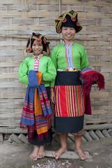 Asiatische Frauen Laos, Thai Dam