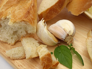 Garlic with bread