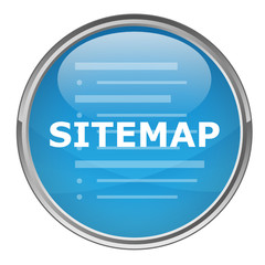 """Circular """"SITEMAP"""" button (vector; blue)"""