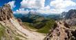 Seiser Alm Alpen Panorama in Südtirol