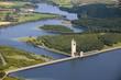 Aerial view : Barrage de l'eau d'heure