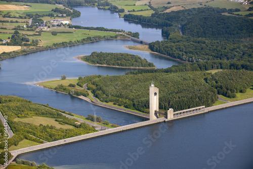 Foto op Aluminium Dam Aerial view : Barrage de l'eau d'heure