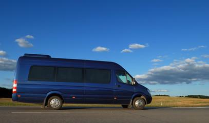 minibus on highway
