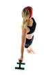 illustration lateral core strenght pose middle age woman push up