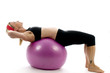 illustration sit ups strength pose middle age woman   fitness co