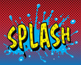 Comic book explosion - Splash