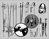 Medieval weapons poster