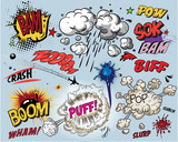 Fotoroleta Comic book explosion