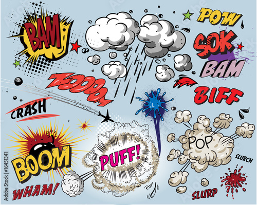Comic book explosion - 16451341