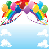 Fototapety Balloon Background 3