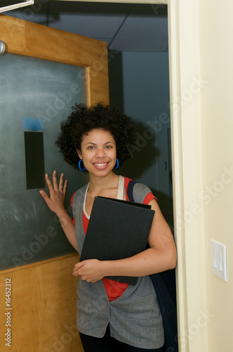 Student with Text book indoor