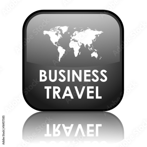 poster of Square vector BUSINESS TRAVEL (black - reflection)
