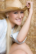 Pretty Blond Country Woman
