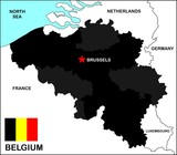 Belgium Political Map poster