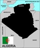 Algeria Political Map poster