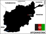 Afghanistan Political Map poster