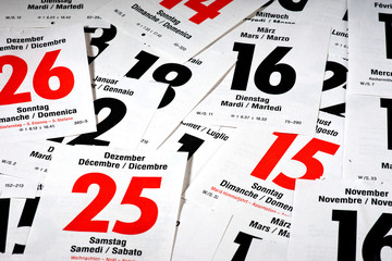 Calendar sheets