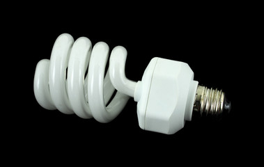 Spiral compact fluorescent light bulb