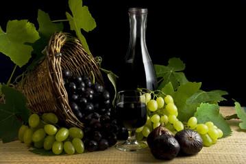 ambientazione vino   uva e fichi 2