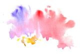 Watercolor abctract grunge pink blot poster