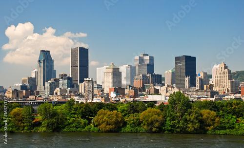 Montréal, le centre ville depuis le parc Jean Drapeau