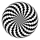 Fototapety Vector spiral optical illusion