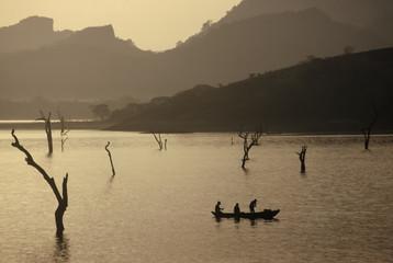 Sunrise over a Lake,Sri Lanka