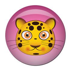 Chapa cabeza de lopardo